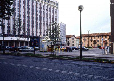 Piazzale Leonardo da Vinci da via Cappuccina; 2002